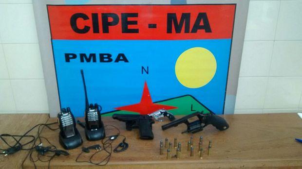 Armas apreendida pela Caema1