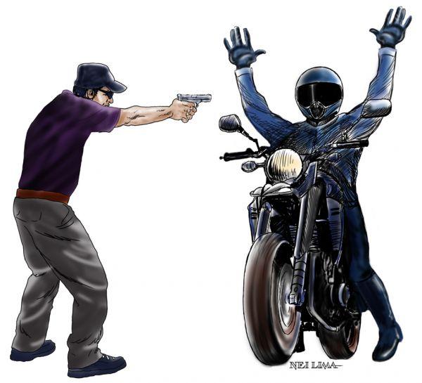 Resultado de imagem para elementos armados roubam motocicleta em
